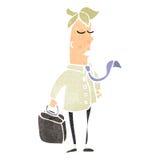 Retro cartoon sensible businessman Royalty Free Stock Photography