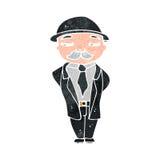 Retro cartoon sensible businessman Stock Photo