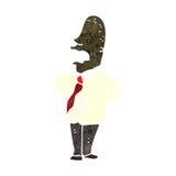 Retro cartoon sensible businessman Royalty Free Stock Photo