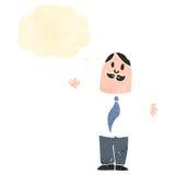 Retro cartoon sensible man Stock Image