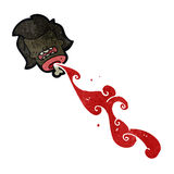 Retro cartoon severed head Royalty Free Stock Image