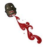 Retro cartoon severed head Stock Image