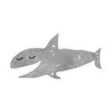 retro cartoon shark Stock Images