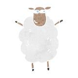 retro cartoon sheep Royalty Free Stock Image