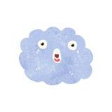 Retro cartoon shocked cloud Stock Image