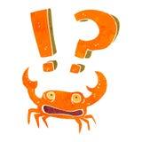 Retro cartoon shocked crab Royalty Free Stock Photography