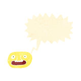 Retro cartoon shocked face symbol Royalty Free Stock Photos