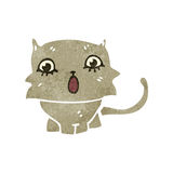 Retro cartoon shocked kitten Royalty Free Stock Image