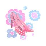 retro cartoon shoes Stock Photo
