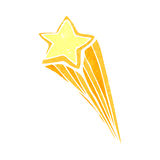 retro cartoon shooting star Royalty Free Stock Photography