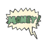 Retro cartoon shout for money Royalty Free Stock Images