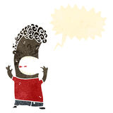 Retro cartoon shouting boy Royalty Free Stock Images