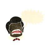 Retro cartoon shouting boy. Retro cartoon with texture. Isolated on White Stock Photo