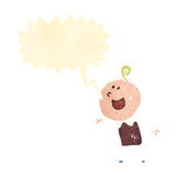Retro cartoon shouting boy Royalty Free Stock Photography