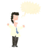 Retro cartoon shouting businessman Stock Images