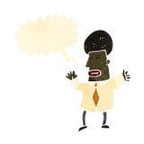 Retro cartoon shouting businessman. Retro cartoon with texture. Isolated on White Royalty Free Stock Photo