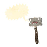 Retro cartoon shouting hammer Stock Photos