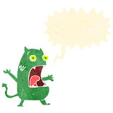 Retro cartoon shouting little devil Stock Images