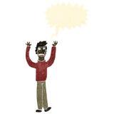 Retro cartoon shouting man Stock Photography