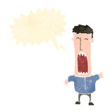 Retro cartoon shouting man Stock Photo