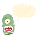 Retro cartoon shouting monster head Royalty Free Stock Photos