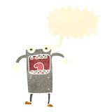 Retro cartoon shouting robot Royalty Free Stock Images