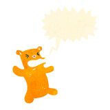 Retro cartoon shouting teddy bear Stock Images