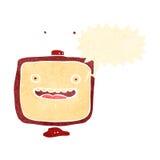 Retro cartoon shouting TV. Retro cartoon with texture. Isolated on White Royalty Free Stock Image