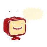 Retro cartoon shouting TV Stock Photo