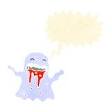 Retro cartoon shrieking ghost Stock Photo