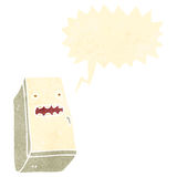 Retro cartoon shrieking refrigerator Royalty Free Stock Photo