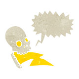 Retro cartoon shrieking skull Stock Photography
