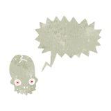 Retro cartoon shrieking skull Royalty Free Stock Photo