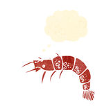 retro cartoon shrimp Royalty Free Stock Photos