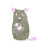 retro cartoon shy mouse Royalty Free Stock Photo