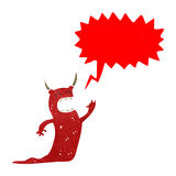 Retro cartoon siging devil Royalty Free Stock Image