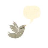 retro cartoon singing bird Royalty Free Stock Images