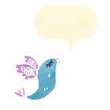 retro cartoon singing bird Stock Images