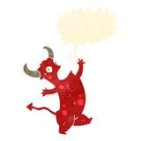 retro cartoon singing devil Royalty Free Stock Photo