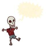 retro cartoon skeleton Stock Photo