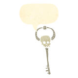 Retro cartoon,skeleton key Stock Photo