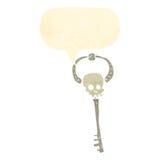Retro cartoon,skeleton key Stock Photo