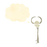 Retro cartoon,skeleton key. Retro cartoon with texture. Isolated on White royalty free illustration