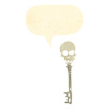 Retro cartoon,skeleton key Stock Photos