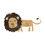 retro cartoon skinny lion Royalty Free Stock Images
