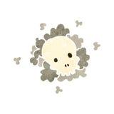 retro cartoon skull cloud Stock Image