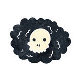 retro cartoon skull cloud Stock Photo