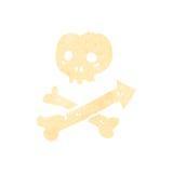 retro cartoon skull and crossbones symbol Royalty Free Stock Photos