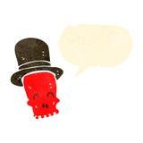 retro cartoon skull with top hat talking Royalty Free Stock Photos