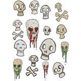 retro cartoon skulls Royalty Free Stock Photos